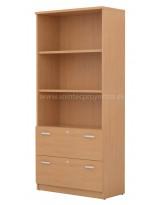 Armario de gavetas de archivo y estantes