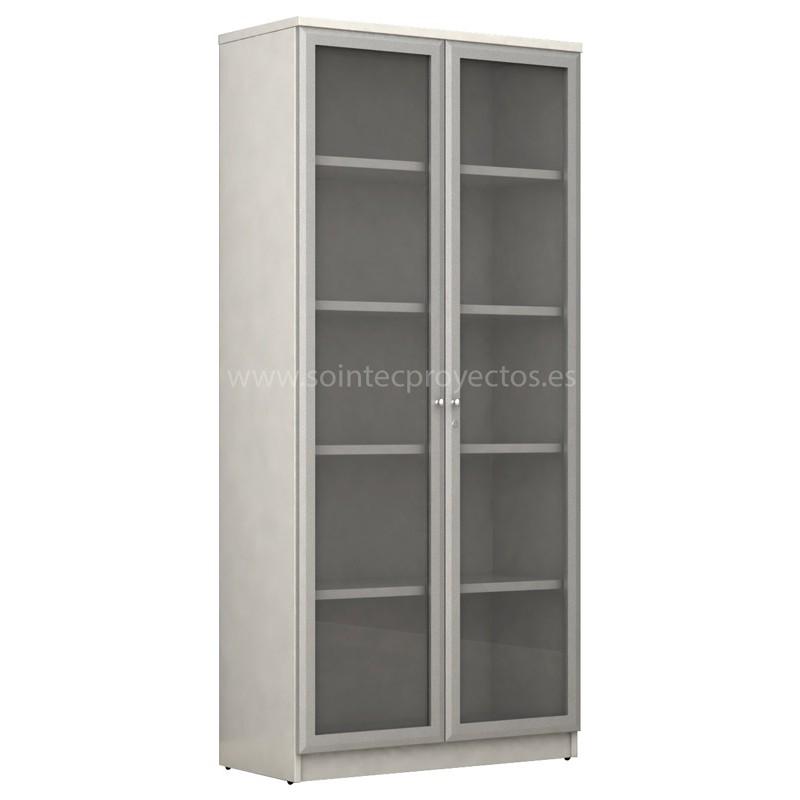 Armario con puertas de cristal abatibles sointec proyectos - Armarios con puertas de cristal ...
