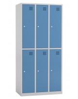Taquilla metálica de 3 módulos de 2 puertas