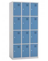 Taquilla metálica de 3 módulos de 4 puertas