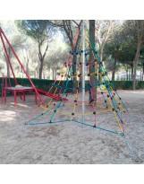 Pirámide de cuerdas con poste de 2 m