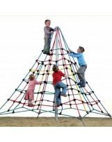 Pirámide de cuerdas con poste de 4 m