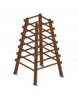 Trepador pirámide de madera