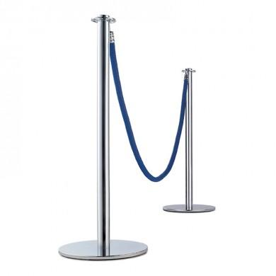 Postes de aluminio de cordón luxe plata