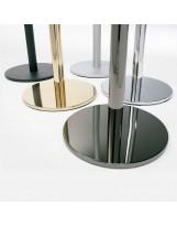 Postes de aluminio de cordón luxe negro