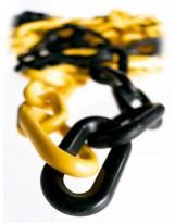 Cadena de plástico amarillo-negro 25 metros