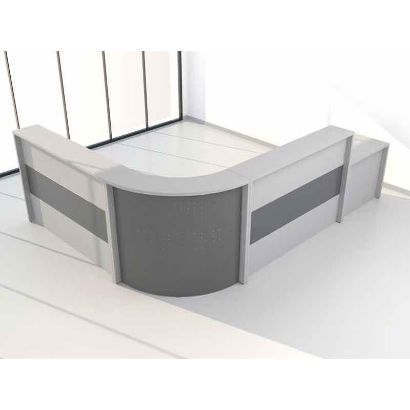 Mostrador De Oficina.Mostrador De Oficina En Madera Con Chapa Curva Sointec Proyectos