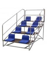 Escalera metálica de jueces de 8 asientos