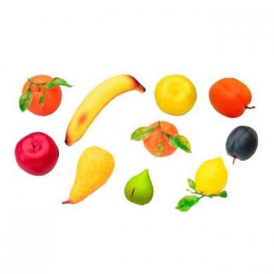 Frutas grandes de plástico 10 piezas