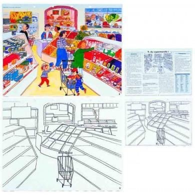 Juego educativo alimentos imágenes a construir