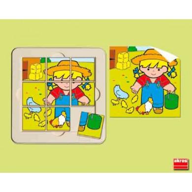"""Puzzle 9 piezas """"Nita en la granja"""""""