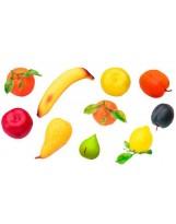 Identifica las 12 frutas de plástico