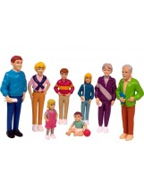 Familia europea 8 figuras plástico