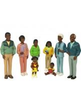 Familia africana 8 figuras plástico