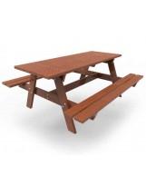 Banco de picnic de madera tropical