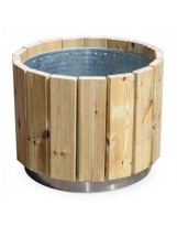 Jardinera circular madera newport