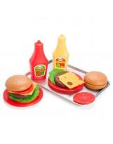 Conjunto de hamburguesa americana