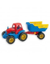 Tractor con trailer de juguete