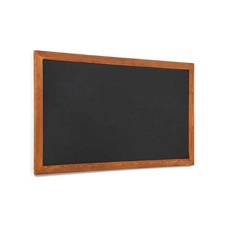Pizarra negra marco madera rústica - Sointec Proyectos