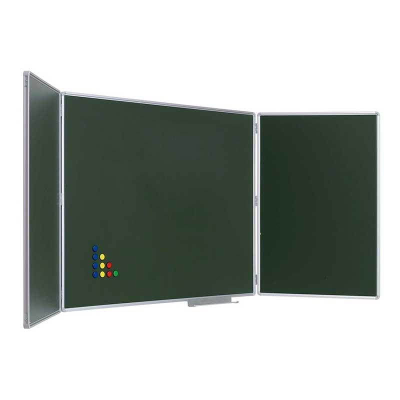 Pizarra verde tríptico - Sointec Proyectos