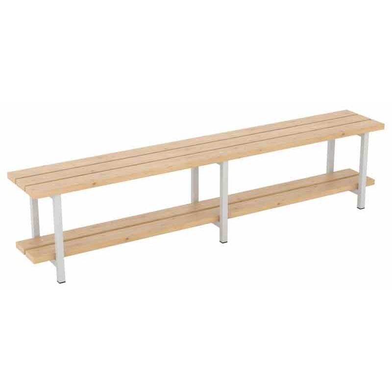 Banco de madera de pino 200 con zapatero sointec proyectos for Banco zapatero madera