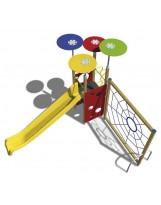 Sistema de juego tobogán con trepa de araña