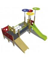 Sistema de juego tobogán y rampa