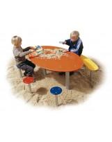 Mesa infantil con 3 taburetes y banco