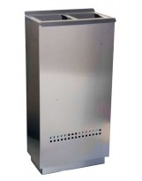 Papelera de reciclaje Ecologic 2 inox