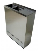 Papelera de reciclaje Ecologic 3 inox