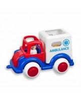 Ambulancia con 2 enfermeros y camilla