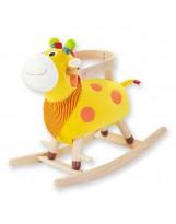 Balancín infantil madera vaca