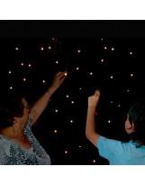 Cortina sensorial de estrellas