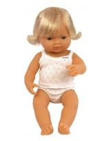 Muñeca niña europea vestida