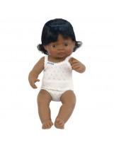 Muñeca niña latinoamerica vestida
