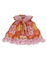 Vestido de muñeca de flores con pañuelo