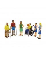 Conjunto de figuras de 6 tipos de discapacidad
