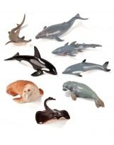 Surtido de 8 figuras de animales marinos