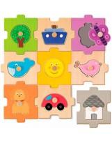 Puzzle madera 18 piezas intercambiable