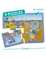 Puzzles cartón 4 piezas animales