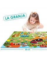 Puzzles cooperativos espuma 15 piezas granja