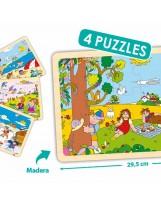 Puzzles madera 15 piezas 4 estaciones