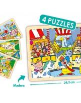 Puzzles madera 24 piezas tiempo libre
