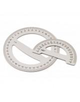 Reglas semicirculares aluminio