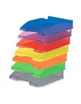 Bandejas plástico unicolor traslúcidas