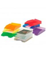 Bandejas plástico colores transparentes