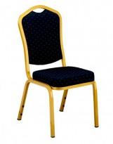Silla amadeus gold de tapiz azúl x12