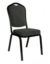 Silla amadeus negra de tapiz gris x121