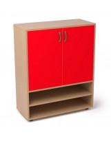 Armario de madera con 1 estante